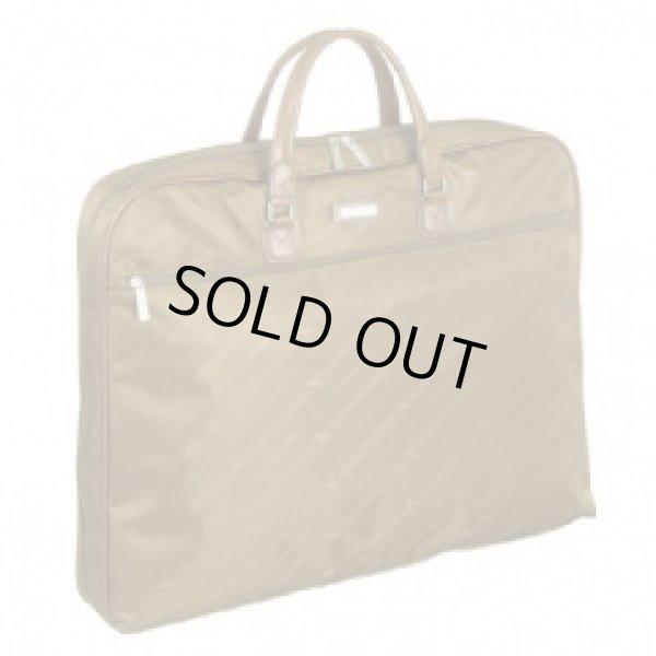 画像1: ジャガード織 薄マチ三つ折れガーメントケース【取寄商品】 (1)