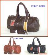 【sale】COREシボ感のあるオシャレな合皮使い2WAYボストンバッグ(3色有)