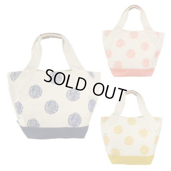 画像1: 【sale】おしゃれな手描きドットレディース帆布キャンバストートバッグ(3色有) (1)