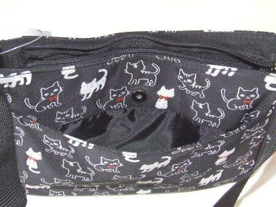 画像2: 【メール便ok】可愛い猫イラストショルダーバッグ(2色有)
