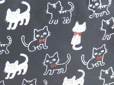 画像1: 【メール便ok】可愛い猫イラストショルダーバッグ(2色有)