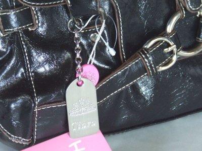 画像1: 【訳有】HAKU型押し合皮高級ハンドバッグ