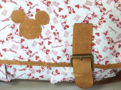 画像1: 【特売】Disneyミニーマウス総柄メッセンジャーバッグ