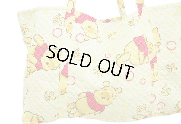 画像1: 【sale】POOHプーさん特大キルティングトートバッグ(2色有) (1)