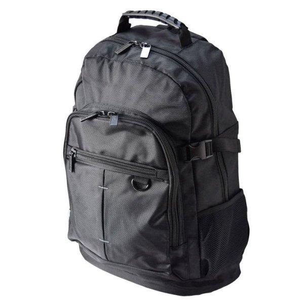 画像1: 通勤通学ビジネスにおすすめ!ジャーメインギアPC対応メンズリュックサック20L黒 (1)