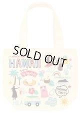 オール刺繍ハワイモチーフランチトートバッグ