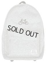 自転車刺繍スウェットディパック■グレー