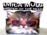 愛猫家におすすめ!レディース向けおしゃれでかわいい小猫顔転写プリントトートバッグ