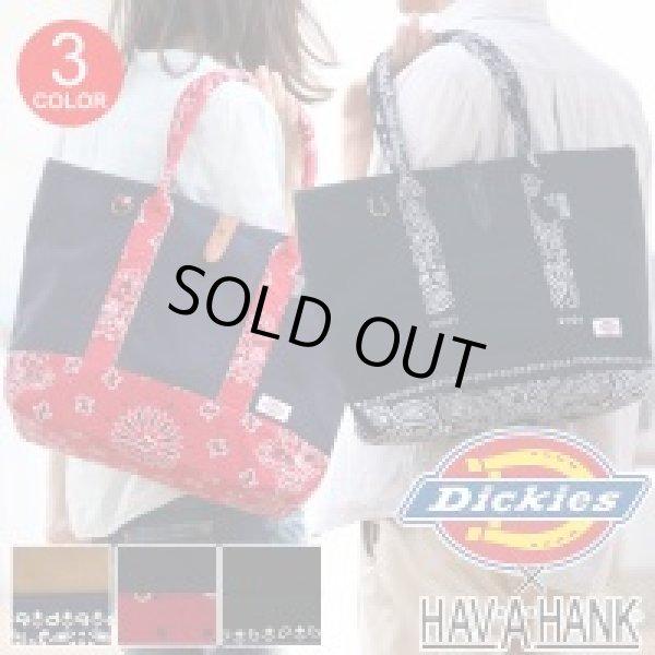 画像1: 【sale】ディッキーズdickiesバンダナ柄トートバッグ(3色有) (1)