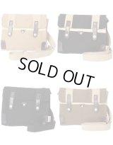 【sale】メンズ&レディース帆布工房斜め掛けカジュアル革付属2WAYミニショルダーバッグ(4色有)