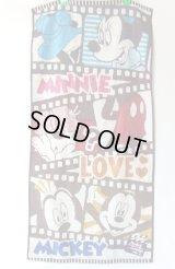 ディズニー・ミッキーマウス&ミニーマウス可愛いバスタオル綿100%