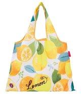 レディース向けおしゃれでかわいい2way折りたたみショッピングエコバッグ/レモン【メール便ok】