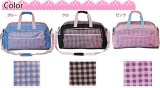 【sale】女の子に人気のおしゃれなチェック柄シュープCHOOP大容量2wayボストンバッグ(3色有)