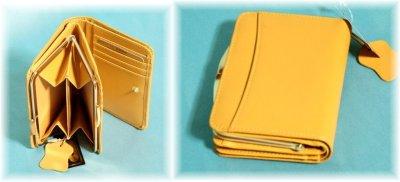 画像2: レディース向けコンパクトで使いやすい化粧箱入りふくろう本革がま口二つ折り財布(2色有)