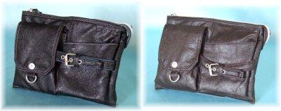 画像3: 【sale】ウエスト&ミニショルダーバッグとして使えるシボ感のあるオシャレな2WAYバッグ(3色有)