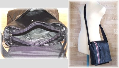 画像2: 【sale】メンズ斜め掛けCORE合成皮革カジュアルショルダーバッグ(2色有)