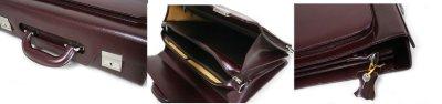 画像1: ロック機能付属 レトロ調 本革2wayビジネスバッグ