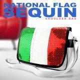【メール便ok】イタリア国旗柄スパンコールショルダーバッグ